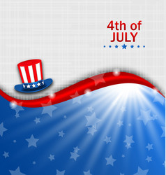 Abstract american poster for independence day usa vector