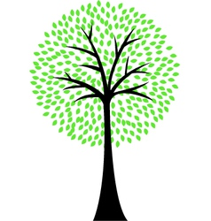Art tree silhouette isolated on white background vector image