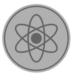 Atom silver coin vector
