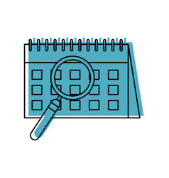 calendar reminder with magnifying glass vector image vector image