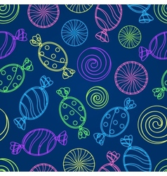 Candy Silholuette Seamless Pattern vector image vector image