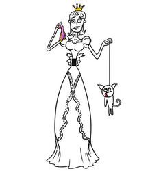cartoon medieval fantasy princess vector image
