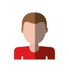Character delivery man red shirt shadow vector
