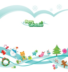 Christmas Ornaments Decoration Card vector image vector image