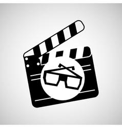clapper movie and megaphone retro graphic vector image