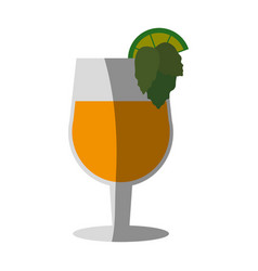 Cocktail glass icon image vector