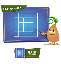 count the squares 6 ansver vector image vector image