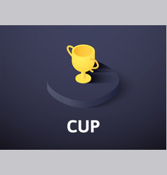 cup isometric icon isolated on color background vector image