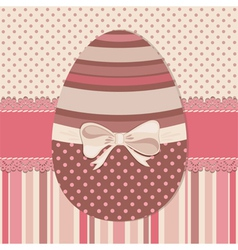Easter greeting card with chocolate egg vector image vector image