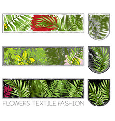 floral t shirt graphic vector image vector image