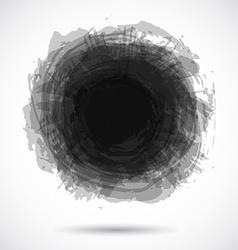 Grunge background with bright black splash vector