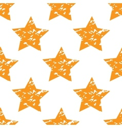 Grungy star pattern vector