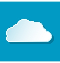 Heavenly cloud icon vector image