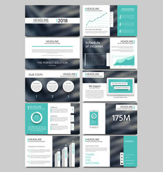 Keynote style business presentation vector