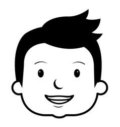Little boy head avatar character vector
