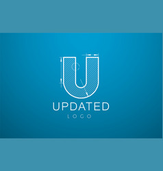 Logo template letter u in the style of a vector