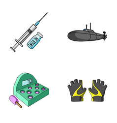 Medicine game and other web icon in cartoon style vector