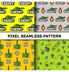 Pixel art objects to Fashion seamless vector image vector image