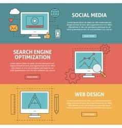 Seo social media and graphic design concept vector