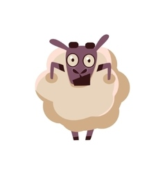 Sheep Being Shocked vector image vector image