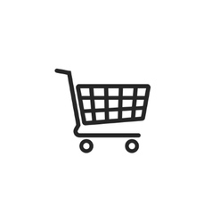 Shopping cart icon supermarket trolley vector