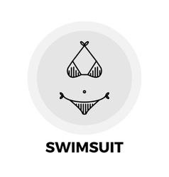 Swimsuit Line Icon vector image