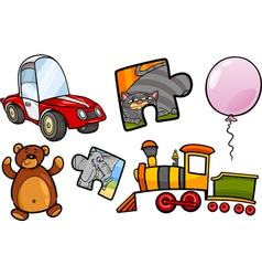 toys objects cartoon set vector image vector image