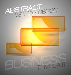 Transparent frames as abstract shapes shining on vector image vector image