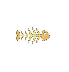 Fish skeleton computer symbol vector image