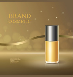 Cosmetic poster cream face skincare container vector