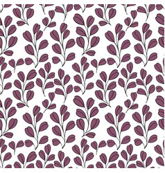 Decorative seamless background with branches vector