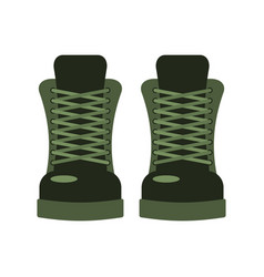 Army shoes military footwear soldier special boot vector