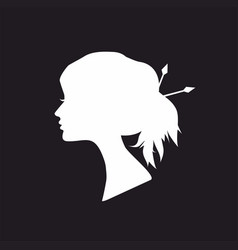 abstract white silhouette woman vector image