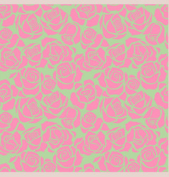 Seamless patternwith pink roses vector