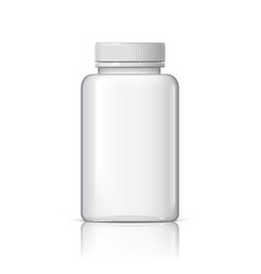 Cool realistic white plastic bottle vector
