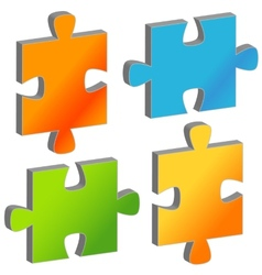 Set of puzzles vector