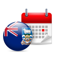 Icon of national day on falkland islands vector