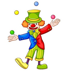 A drawing of a clown juggling vector