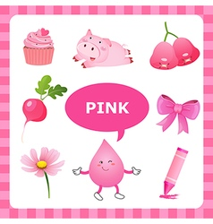 Learning pink color vector