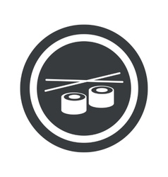 Round black sushi sign vector