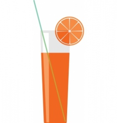 Citron juice in a glass vector