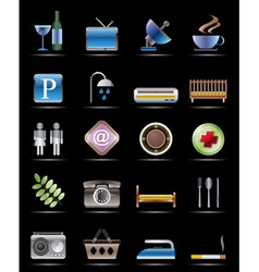 Hotel and motel objects vector