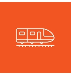 Modern high speed train line icon vector