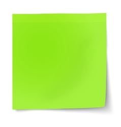 Green sticky note isolated on white background vector