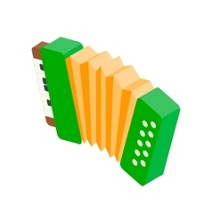 Accordion isometric 3d icon vector