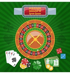 Colorful casino poster vector