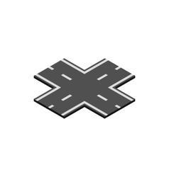 Crossroad icon isometric 3d style vector