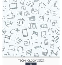 Technology wallpaper Black and white digital vector image