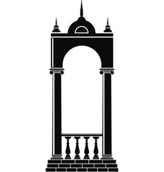 arch with balustrade vector image vector image