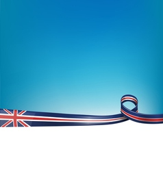 background with england flag vector image vector image